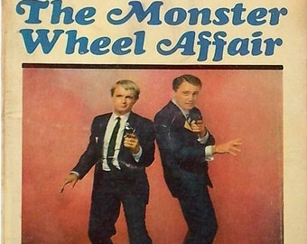 Vintage Man From Uncle Ace Books 1967 Mid Century TV Show The Monster Wheel Affair Napolean Solo Illya Kuryakn Robert Vaughn