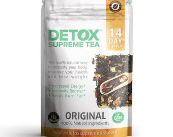 Detox Supreme Weight Loss Caffeine Free Tea: Helps Cleanse Body, Reduce Bloating, & Suppressing Appetite, 14 Day Detox Tea Supply