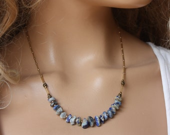 Dainty  Simple Everyday Sodalite  Necklace