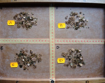 Vintage Tiny BRASS gear / Steampunk Gears / Altered Art Industrial Mixed Media Assemblage Scrapbooking / Watch gears / Watch parts Ww7