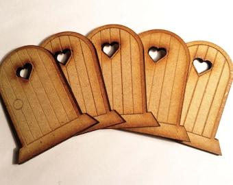 5 Fairy Doors Elf Wooden Laser Cut Fairies Pixies Handmade