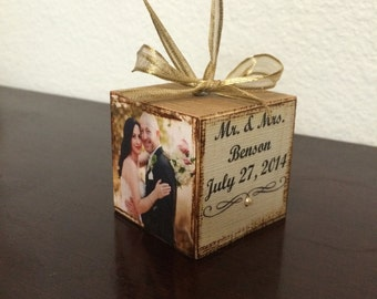 Wedding Ornament photo personalized and custom