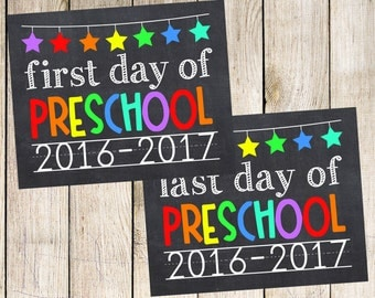 Items similar to First and Last Day of Pre-K 2016-2017 Green ...
