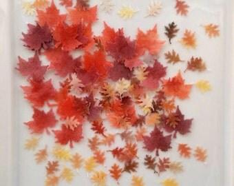 Edible Maple Leaf Confetti - Edible Fall Confetti - Edible Cupcake Confetti - Edible Cookie Confetti - Wafer Paper Confetti