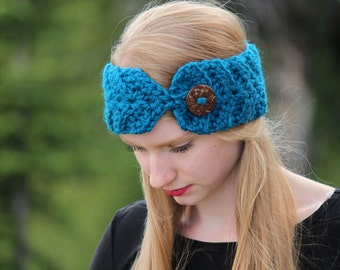 Crochet Pattern Headband Ear Warmer PDF: The Nicole Headband