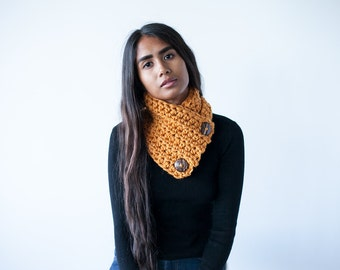 Crochet Pattern Scarf Cowl PDF: The Emma Cowl