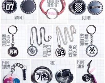Monsta X Necklace / Bracelet / Ring / Keychain / Magnet / Button / Phone Strap / Phone Charm