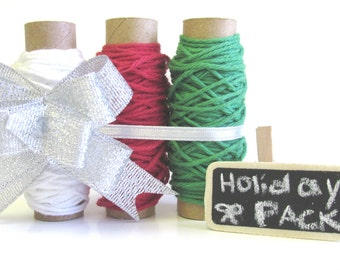 Solid Colors Bakers Twine Holiday Collection - 30 yards Total - 3 Colors -10 Yards per Color