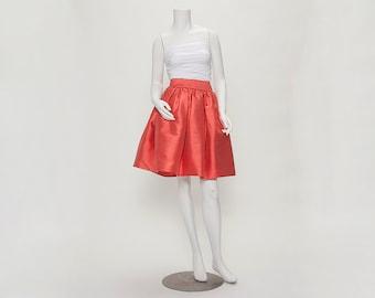 rose duponi silk party skirt vintage 1980s • Revival Vintage Boutique