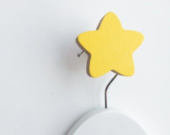 Wall Hook Star Yellow