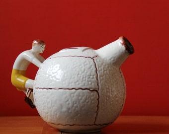 Wine Jug // Glazed Ceramic Figural Jug // Sporty