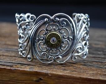 Sterling Silver Bullet Cuff Bracelet