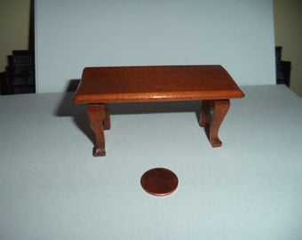 1:12 scale Miniature Dollhouse Walnut Coffee Table