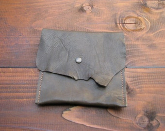 Leather green purse