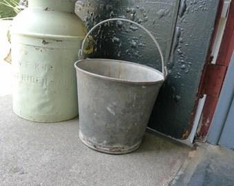 Galvanized rusty pail