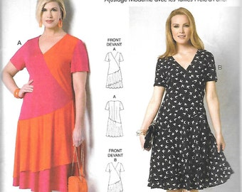Butterick Front Overskirt DRESS by Connie Crawford Pattern 6222 Woman's Sizes XXL 1X 2X 3X 4X 5X 6X