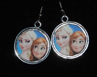 Frozen Elsa & Anna Earrings