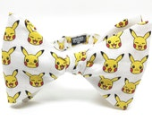 Pikachu Pokemon Bow Tie - Bowtie, Bow Ties, Bowties, pokemon go, videogame, mens, boys, self tie, pretied, fun, cool, geek