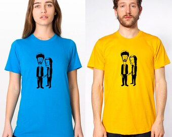 beavis and butthead pulp fiction t-shirt or tank top -- american apparel