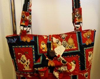 Handmade puppy dog tote