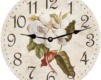 Rustic Flower Clock/Magnolia Flower Clock