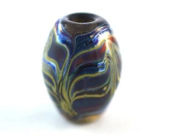 Silver Tributaries Handmade Glass Lampwork Bead