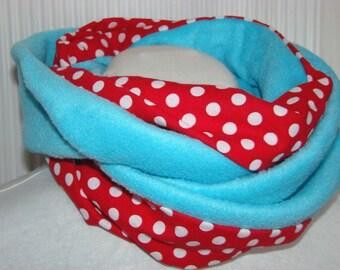infinity scarf cotton and fleece