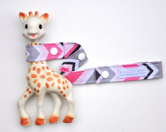 Toy Leash / Toy Strap - Chevy Chevron Pink