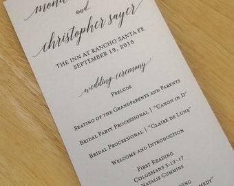 Printable Wedding Program - DIY Ceremony Program Template - Adelicia - Tea Length