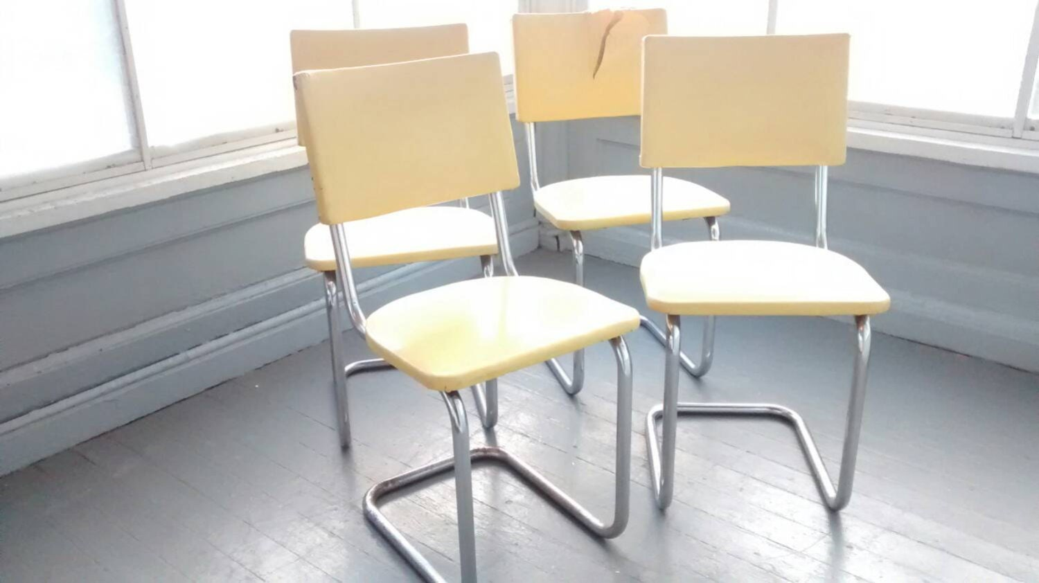 dinette chairs retro 50s metal vinyl chrome retro vintage set