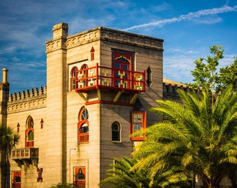 The Villa Zorayda Museum in St. Augustine, Florida. | Photo Print, Stretched Canvas, or Metal Print.