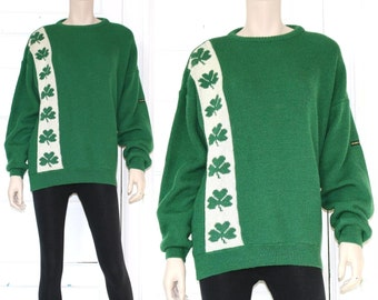 Vtg wool shamrock sweater - Made in Ireland - large or xl