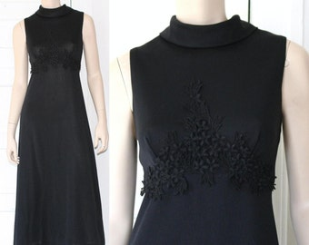 60s floral lace maxi dress - small or medium