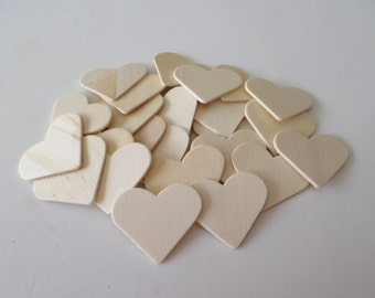 25 Wood hearts, unfinished, ready to paint, woodworking, wood shapes