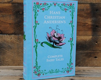 Hollow Book Safe - Complete Fairy Tales - Blue Leather Bound