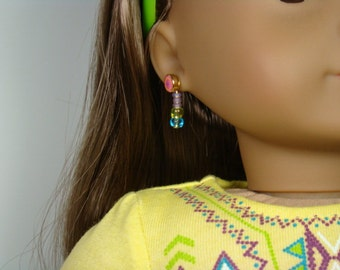 "Tropical Colors Earring Dangles for 18"" Play Dolls such as American Girl®"