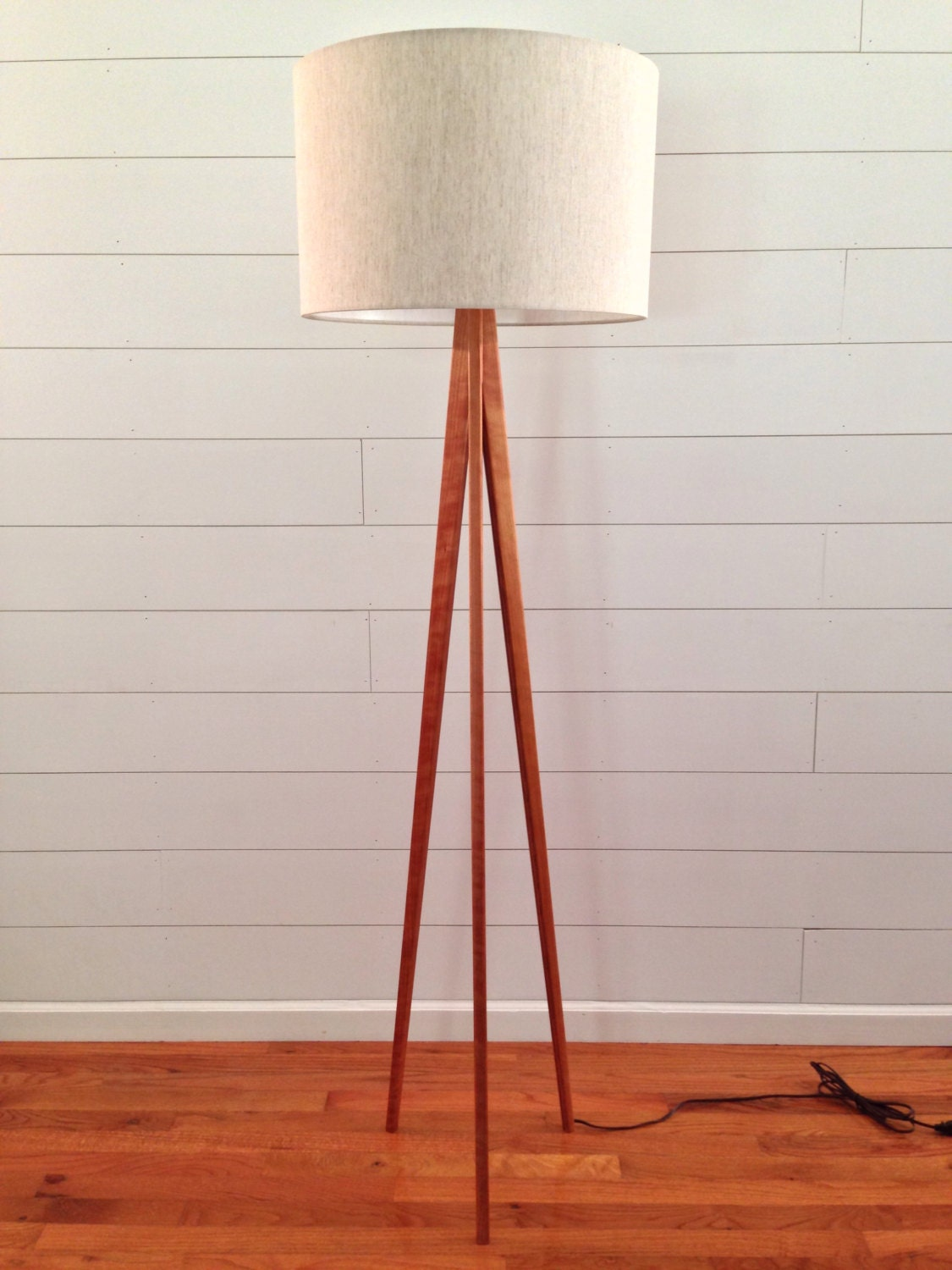 Floor Lamp Tripod Cherry Wood