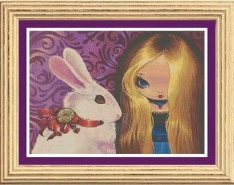 White Rabbit and Alice