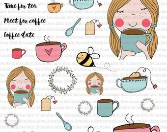 Busy Bee Makes Time for Tea Stickers