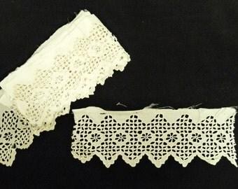 Edwardian Broderie Anglaise, 5 Pieces, Off White, Cutwork, Insert, 401, Wedding, dressmaking, Scrapbooking, Collage, Steampunk, haberdashery