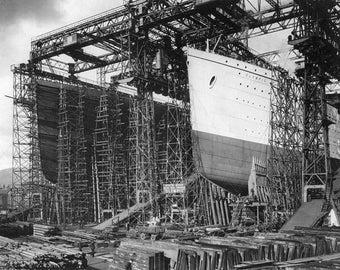 Olympic and Titanic, Belfast, Ireland: Photo Print
