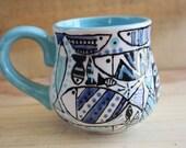 Crazy Fish Pattern Ceramic Mug