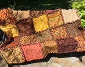 Autumn rag quilt - fall rag quilt - fall leaves rag quilt - Thanksgiving rag quilt - autumn decor - fall decor - Thanksgiving decor