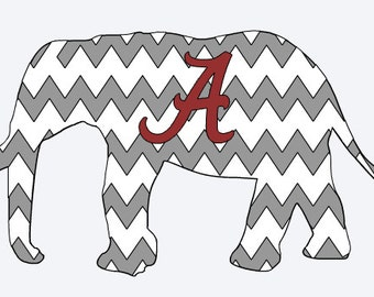 Alabama Elephant layered vinyl decal by ReLoved Treasure, vinyl sticker, car decal, Bama, Roll Tide