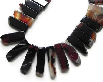 half strand of fire stick beads
