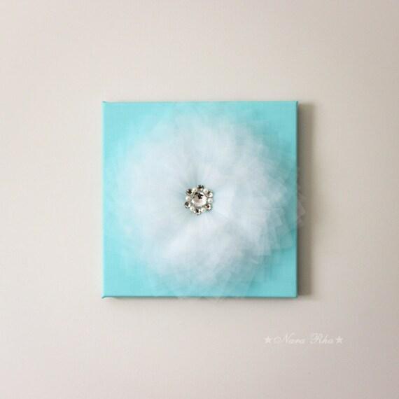 3d Wall Decor Flower Garden : Flower wall art aqua nursery decor d decoration baby