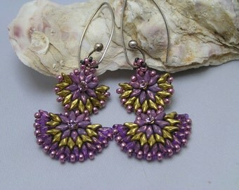 """Pattern/Tutorial in English  for the earrings   """"Petticoat"""""""