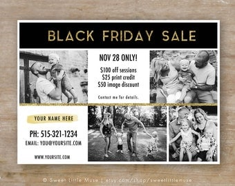 Black Friday Template - Black Friday Sale Ad Template - Photography Marketing Template