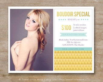 Photography marketing template - 8.5x11 boudoir template INSTANT DOWNLOAD