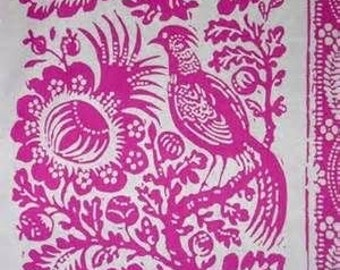 Hot Pink Bird Mod Girls Patsy Jennifer Paganelli Sis Boom Free Spirit Vines Floral By The Yard Fabric
